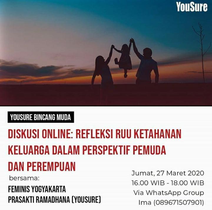 Diskusi Online: Refleksi RUU Ketahanan Keluarga Dalam PErspektif Pemuda dan Perempuan